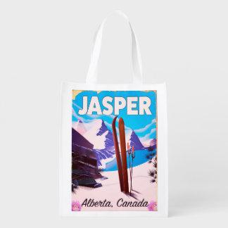 Affiche de voyage d'Alberta Canada de jaspe Cabas Épicerie