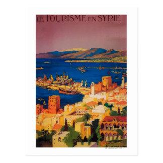 Affiche de voyage de Français, voyageant en Syrie Carte Postale