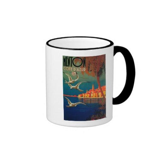 Affiche de voyage de la Côte d'Azur # 1 Tasse À Café