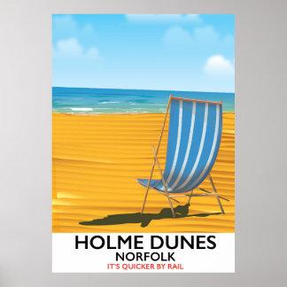 Affiche de voyage de la Norfolk de dunes de Holme Poster