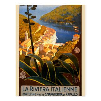 Affiche de voyage de la Riviera l Europe Italie d Cartes Postales