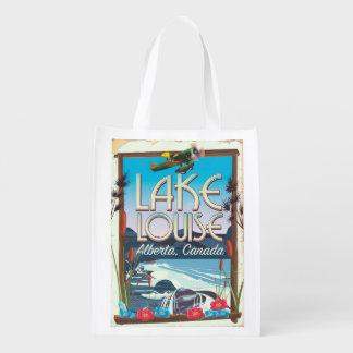 Affiche de voyage de Lake Louise, Alberta Canada Sacs D'épicerie