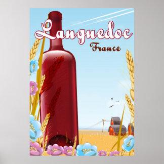 Affiche de voyage de Languedoc France Poster