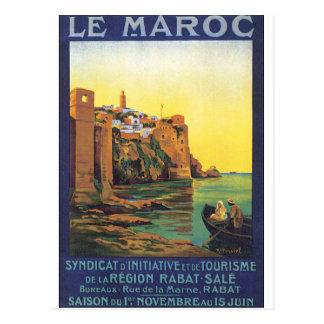 Affiche de voyage de Le Maroc Vintage Carte Postale