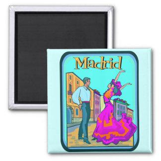 Affiche de voyage de Madrid Magnet Carré