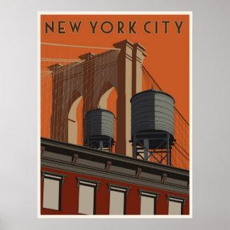 Affiche de voyage de New York City