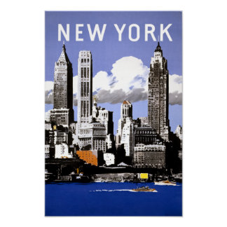 Affiche de voyage de New York City Poster