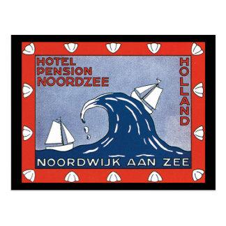 Affiche de voyage de Nordzee_Vintage de pension Carte Postale