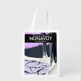 Affiche de voyage de Nunavut Canada Sac Réutilisable D'épcierie