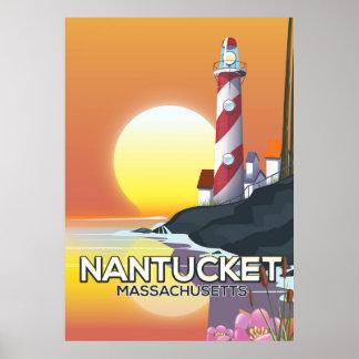 Affiche de voyage de phare de Nantucket le Poster