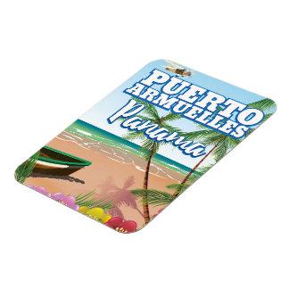 Affiche de voyage de plage de Puerto Armuelles Magnet Flexible