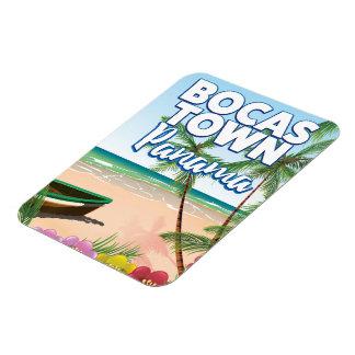 Affiche de voyage de plage du Panama de ville de Magnet Flexible