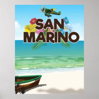 Affiche de voyage de plage du Saint-Marin