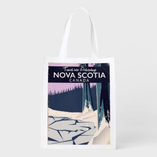 Affiche de voyage de vacances de la sac réutilisable d'épcierie