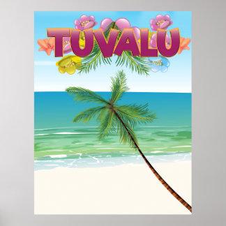 Affiche de voyage d'île du Tuvalu Poster