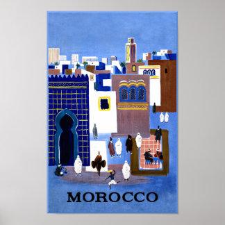 Affiche de voyage du Maroc