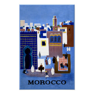 Affiche de voyage du Maroc Poster