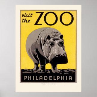Affiche de WPA pour le zoo de Philadelphie