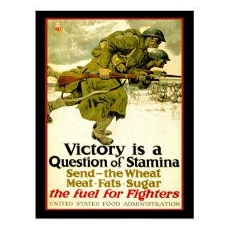 Affiche de WWI au sujet des approvisionnements Carte Postale