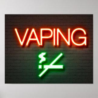 Affiche d'enseigne au néon de Vaping