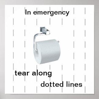 Affiche d'humeur de toilette
