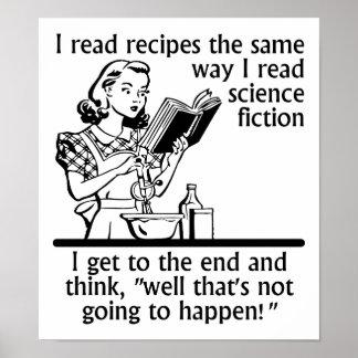 Affiche drôle de fiction de cuisine