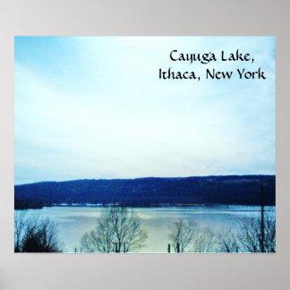 Affiche du LAC de CAYUGA, ITHACA NEW YORK