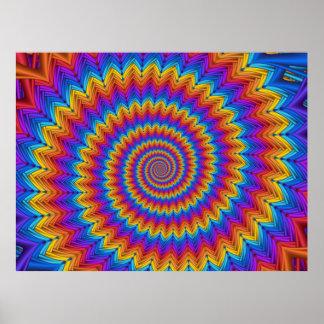 Affiche en spirale psychédélique
