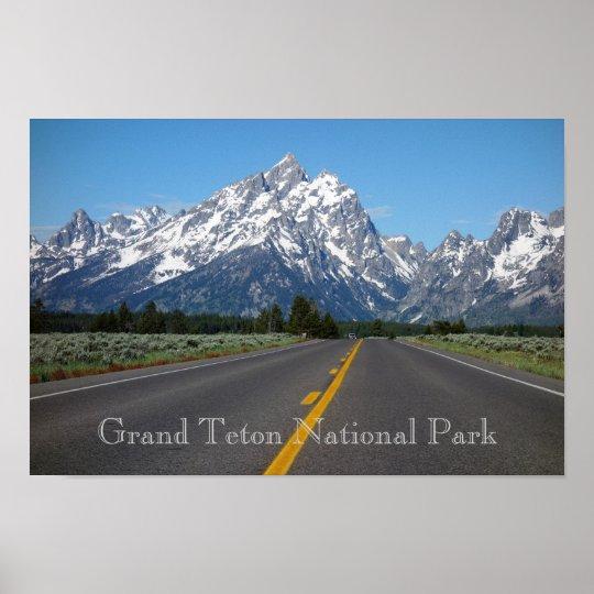 Affiche grande de parc national de Teton
