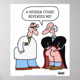 Affiche humoristique de cabinet juridique