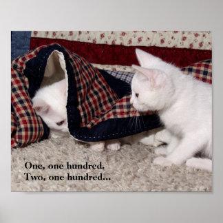 Affiche humoristique de cache-cache de Kitty