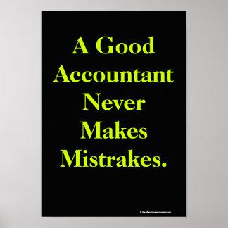 Affiche humoristique de comptable