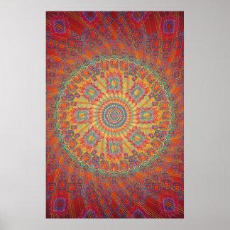 Affiche : Illustration en spirale psychédélique de