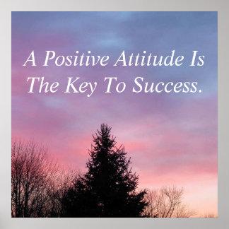 Affiche inspirée d'affiche d'attitude positive poster