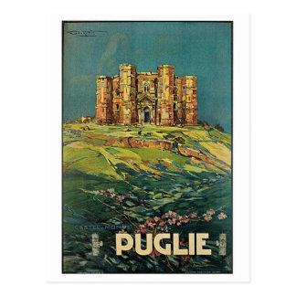 """Affiche italienne vintage de voyage """"de Puglie Carte Postale"""