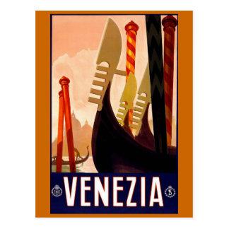 """Affiche italienne vintage de voyage de """"Venise"""" Carte Postale"""