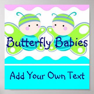 Affiche jumelle de bébés