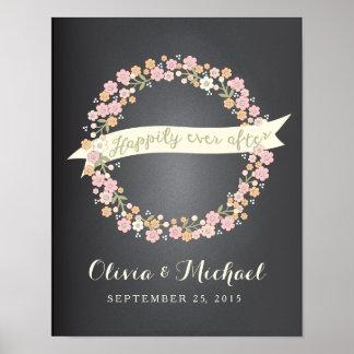 Affiche l'épousant de la guirlande II floral avec