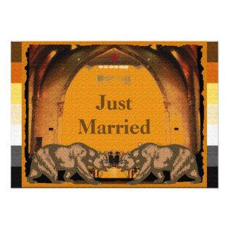 Affiche mariée californienne de fierté d'ours impression photographique