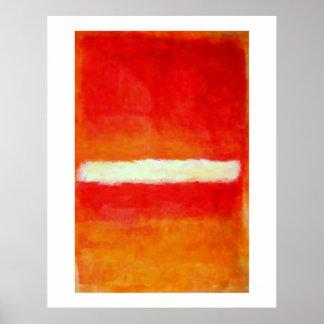 Affiche moderne d'art abstrait - style de Rothko