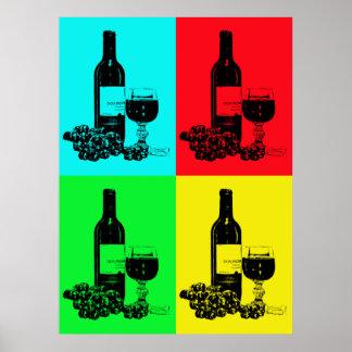 affiche moderne de vin de Bruit-art