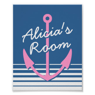 Affiche nautique personnalisée de décor de chambre