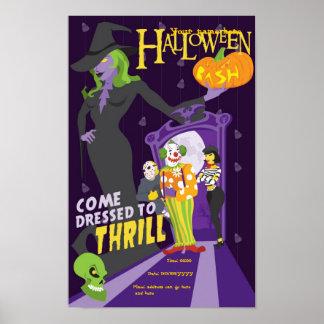 Affiche pary de Halloween