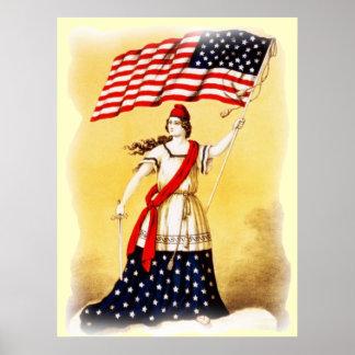 """Affiche patriotique vintage """"toujours vigilante"""" poster"""
