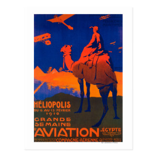 Affiche promotionnelle de ligne aérienne française carte postale