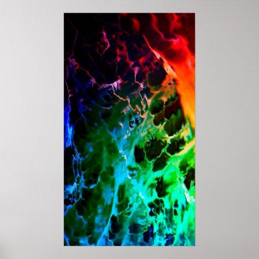 Affiche psychédélique abstraite #2