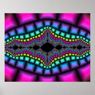 Affiche psychédélique colorée 20x16