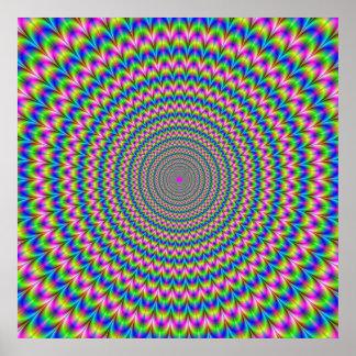 Affiche psychédélique d'anneaux