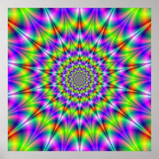 Affiche psychédélique de cercles