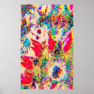 Affiche psychédélique de kaléidoscope